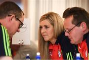 14 April 2018; Deirdre Tomlinson representing Carlow, competing in the table quiz during the All-Ireland Scór Sinsir Finals 2018 at the Clayton Hotel Ballroom & Knocknarea Arena in Sligo IT, Sligo. Photo by Eóin Noonan/Sportsfile
