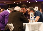 14 April 2018; The Limerick representatives competing in the table quiz during the All-Ireland Scór Sinsir Finals 2018 at the Clayton Hotel Ballroom & Knocknarea Arena in Sligo IT, Sligo. Photo by Eóin Noonan/Sportsfile