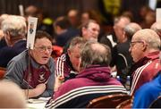 14 April 2018; Representatives from Longford competing in the table quiz during the All-Ireland Scór Sinsir Finals 2018 at the Clayton Hotel Ballroom & Knocknarea Arena in Sligo IT, Sligo. Photo by Eóin Noonan/Sportsfile