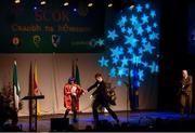 14 April 2018; Margaret Reagan, Ann Marie Gunn, Michael Gunn and Stephen Quinn from Elphin, Roscommon, competing in the Léiriú Stáitse category during the All-Ireland Scór Sinsir Finals 2018 at the Clayton Hotel Ballroom & Knocknarea Arena in Sligo IT, Sligo. Photo by Eóin Noonan/Sportsfile