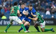 14 April 2018; Sean O'Brien of Leinster is tackled by Luca Bigi of Benetton Rugby during the Guinness PRO14 Round 20 match between Leinster and Benetton Rugby at the RDS Arena in Dublin. Photo by Ramsey Cardy/Sportsfile