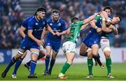 14 April 2018; Noel Reid of Leinster is tackled by Alessandro Zanni of Benetton Rugby during the Guinness PRO14 Round 20 match between Leinster and Benetton Rugby at the RDS Arena in Dublin. Photo by Ramsey Cardy/Sportsfile