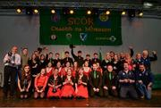 14 April 2018; All winners with their trophies after the All-Ireland Scór Sinsir Finals 2018 at the Clayton Hotel Ballroom & Knocknarea Arena in Sligo IT, Sligo. Photo by Eóin Noonan/Sportsfile