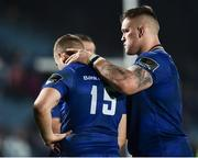 14 April 2018; Andrew Porter, right, of Leinster consoles team-mate Jordan Larmour following their side's defeat after the Guinness PRO14 Round 20 match between Leinster and Benetton Rugby at the RDS Arena in Dublin. Photo by Seb Daly/Sportsfile
