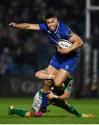 14 April 2018; Adam Byrne of Leinster is tackled by Tommaso Iannone of Benetton Rugby during the Guinness PRO14 Round 20 match between Leinster and Benetton Rugby at the RDS Arena in Dublin. Photo by Ramsey Cardy/Sportsfile