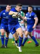 14 April 2018; Jordan Larmour of Leinster during the Guinness PRO14 Round 20 match between Leinster and Benetton Rugby at the RDS Arena in Dublin. Photo by Brendan Moran/Sportsfile
