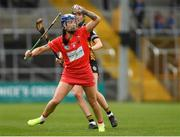 8 April 2018; Ashling Thompson of Cork in action against Denise Gaule of Kilkenny during the Littlewoods Ireland Camogie League Division 1 Final match between Kilkenny and Cork at Nowlan Park in Kilkenny. Photo by Piaras Ó Mídheach/Sportsfile