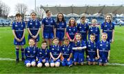 14 April 2018; The Leinster mascots prior to the Guinness PRO14 Round 20 match between Leinster and Benetton Rugby at the RDS Arena in Ballsbridge, Dublin. Photo by Brendan Moran/Sportsfile