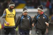 11 March 2018; Waterford manager Derek McGrath, centre, with selectors Dan Shanahan, left, and Eoin Murphy at half-time during the Allianz Hurling League Division 1A Round 5 match between Waterford and Clare at Walsh Park in Waterford. Photo by Piaras Ó Mídheach/Sportsfile