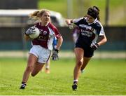 15 April 2018; Lynsey Noone of Glenamaddy, Galway in action against Róisín Daly of Presentation, Thurles during the Lidl All Ireland Post Primary School Senior B Final match between Glenamaddy, Galway and Presentation, Thurles, Tipperary at Duggan Park in Ballinasloe, Co Galway. Photo by Seb Daly/Sportsfile