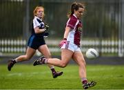 15 April 2018; Ailish Morrissey of Glenamaddy, Galway shoots to score her side's first goal during the Lidl All Ireland Post Primary School Senior B Final match between Glenamaddy, Galway and Presentation, Thurles, Tipperary at Duggan Park in Ballinasloe, Co Galway. Photo by Seb Daly/Sportsfile