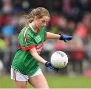 14 April 2018; Junny Everard of  Loreto, Clonmel during the Lidl All Ireland Post Primary School Senior A Final match between Loreto, Clonmel, Tipperary and Loreto, Cavan at Kinnegad in County Westmeath. Photo by Matt Browne/Sportsfile
