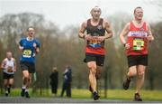 15 April 2018; Jianfeng Zhiang, left, and Joe Breen in action during the Great Ireland Run and AAI National 10k at the Phoenix Park in Dublin. Photo by David Fitzgerald/Sportsfile