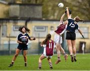 15 April 2018; Maeve Flanagan of Glenamaddy, Galway in action against Marie Creedon of Presentation, Thurles at the start of th second half during the Lidl All Ireland Post Primary School Senior B Final match between Glenamaddy, Galway and Presentation, Thurles, Tipperary at Duggan Park in Ballinasloe, Co Galway. Photo by Seb Daly/Sportsfile