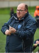 15 April 2018; Metropolitan Girls League manager Declan Quinn during the FAI Women's U18 Inter-League Cup Final match between Donegal Women's League and Metropolitan Girls League at Monaghan United in Gortakeegan, Co. Monaghan. Photo by Philip Fitzpatrick/Sportsfile