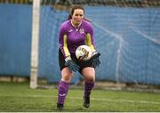 15 April 2018; Claire Friel of Donegal Women's League in action during the FAI Women's U18 Inter-League Cup Final match between Donegal Women's League and Metropolitan Girls League at Monaghan United in Gortakeegan, Co. Monaghan. Photo by Philip Fitzpatrick/Sportsfile