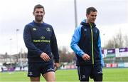 16 April 2018; Rob Kearney, left, and Jonathan Sexton during Leinster Rugby squad training at Energia Park in Dublin. Photo by Ramsey Cardy/Sportsfile