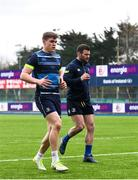 16 April 2018; Garry Ringrose, left, and Fergus McFadden during Leinster Rugby squad training at Energia Park in Dublin. Photo by Ramsey Cardy/Sportsfile