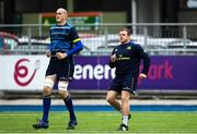 16 April 2018; Devin Toner, left, and Sean Cronin during Leinster Rugby squad training at Energia Park in Dublin. Photo by Ramsey Cardy/Sportsfile