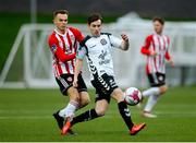 16 April 2018; Karl Moore of Bohemians in action against Rory Hale of Derry City during the SSE Airtricity League Premier Division match between Derry City and Bohemians at the Brandywell Stadium in Derry. Photo by Oliver McVeigh/Sportsfile