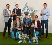 16 April 2018; UL hurlers, from left, John McGrath from Tipperary, Gearóid Hegarty from Limerick, David McCarthy from Limerick, David Fitzgerald from Clare, Seán Finn from Limerick and Conor Cleary from Clare at the Electric Ireland HE GAA Football & Hurling Rising Stars Awards for 2018, in Croke Park. The awards acknowledge outstanding performances in the battle for third level football and hurling Championships and come at the end of what was an epic season of GAA action. Photo by Stephen McCarthy/Sportsfile