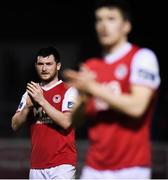 16 April 2018; Ryan Brennan of St Patrick's Athletic following the SSE Airtricity League Premier Division match between St Patrick's Athletic and Waterford at Richmond Park in Dublin. Photo by David Fitzgerald/Sportsfile