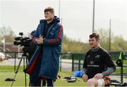 17 April 2018; Jack O'Donoghue and Peter O'Mahony during Munster Rugby squad training at the University of Limerick in Limerick. Photo by Diarmuid Greene/Sportsfile