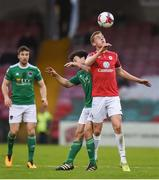 17 April 2018; Jack Keaney of Sligo Rovers in action against Barry McNamee of Cork City during the SSE Airtricity League Premier Division match between Cork City and Sligo Rovers at Turner's Cross in Cork. Photo by Eóin Noonan/Sportsfile