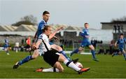 17 April 2018; John Mountney of Dundalk in action against Killian Cantwell of Limerick FC during the SSE Airtricity League Premier Division match between Limerick FC and Dundalk at the Markets Field in Limerick. Photo by Diarmuid Greene/Sportsfile
