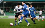 17 April 2018; Jamie McGrath of Dundalk in action against Billy Dennehy of Limerick FC during the SSE Airtricity League Premier Division match between Limerick FC and Dundalk at the Markets Field in Limerick. Photo by Diarmuid Greene/Sportsfile