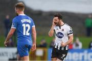17 April 2018; Patrick Hoban of Dundalk celebrates after scoring his side's second goal during the SSE Airtricity League Premier Division match between Limerick FC and Dundalk at the Markets Field in Limerick. Photo by Diarmuid Greene/Sportsfile