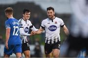 17 April 2018; Patrick Hoban of Dundalk celebrates with team-mate Jamie McGrath after scoring his side's second goal during the SSE Airtricity League Premier Division match between Limerick FC and Dundalk at the Markets Field in Limerick. Photo by Diarmuid Greene/Sportsfile
