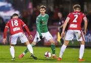 17 April 2018; Kieran Sadlier of Cork City in action against Callum Waters, left, and Gary Boylan of Sligo Rovers during the SSE Airtricity League Premier Division match between Cork City and Sligo Rovers at Turner's Cross in Cork. Photo by Eóin Noonan/Sportsfile