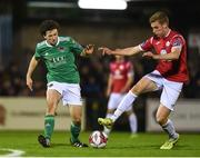 17 April 2018; Barry McNamee of Cork City in action against Jack Keaney of Sligo Rovers during the SSE Airtricity League Premier Division match between Cork City and Sligo Rovers at Turner's Cross in Cork. Photo by Eóin Noonan/Sportsfile