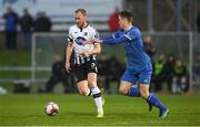 17 April 2018; Chris Shields of Dundalk in action against Killian Brouder of Limerick FC during the SSE Airtricity League Premier Division match between Limerick FC and Dundalk at the Markets Field in Limerick. Photo by Diarmuid Greene/Sportsfile