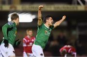 17 April 2018; Graham Cummins of Cork City celebrates after team-mate Jimmy Keohane scored their side's first goal during the SSE Airtricity League Premier Division match between Cork City and Sligo Rovers at Turner's Cross in Cork. Photo by Eóin Noonan/Sportsfile