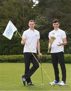 19 April 2018; In attendance at the GUI National Headquarters to help mark the commencement of the 2018 AIG Cups & Shields season and to celebrate AIG's 20th anniversary as a partner to the GUI and ILGU is Dublin GAA stars and AIG ambassadors Dean Rock, left, and Eoghan O'Donnell. AIG revealed details of their 'AIG Golfer Anniversary Sale', where they are offering up to 20% off car insurance and up to 50% on home Insurance.* For more details see www.aig.ie/golf . Photo by Brendan Moran/Sportsfile