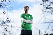 19 April 2018; Ronan Finn poses for a portrait following the Shamrock Rovers media conference at Roadstone Social Club in Kingswood, Co Dublin. Photo by David Fitzgerald/Sportsfile