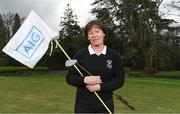 19 April 2018; In attendance at the GUI National Headquarters to help mark the commencement of the 2018 AIG Cups & Shields season and to celebrate AIG's 20th anniversary as a partner to the GUI and ILGU is Lady Captain of Lucan Golf Club Sandra McCaffrey. AIG revealed details of their 'AIG Golfer Anniversary Sale', where they are offering up to 20% off car insurance and up to 50% on home Insurance.* For more details see www.aig.ie/golf . Photo by Brendan Moran/Sportsfile