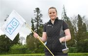 19 April 2018; In attendance at the GUI National Headquarters to help mark the commencement of the 2018 AIG Cups & Shields season and to celebrate AIG's 20th anniversary as a partner to the GUI and ILGU is Molly Dowling, AIG Senior Foursomes. AIG revealed details of their 'AIG Golfer Anniversary Sale', where they are offering up to 20% off car insurance and up to 50% on home Insurance.* For more details see www.aig.ie/golf . Photo by Brendan Moran/Sportsfile