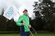 19 April 2018; In attendance at the GUI National Headquarters to help mark the commencement of the 2018 AIG Cups & Shields season and to celebrate AIG's 20th anniversary as a partner to the GUI and ILGU is 2017 AIG Senior Cup Champion Ronan Mullarney. AIG revealed details of their 'AIG Golfer Anniversary Sale', where they are offering up to 20% off car insurance and up to 50% on home Insurance.* For more details see www.aig.ie/golf .   Photo by Brendan Moran/Sportsfile