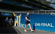 20 April 2018; Jordan Larmour during the Leinster Rugby captain's run at the Aviva Stadium in Dublin. Photo by Ramsey Cardy/Sportsfile