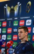 20 April 2018; Jonathan Sexton during a Leinster Rugby press conference at the Aviva Stadium in Dublin. Photo by Ramsey Cardy/Sportsfile