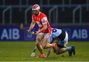 24 March 2018; Con O'Callaghan of Cuala in action against Cathal King of Na Piarsaigh during the AIB GAA Hurling All-Ireland Senior Club Championship Final replay match between Cuala and Na Piarsaigh at O'Moore Park in Portlaoise, Laois. Photo by Piaras Ó Mídheach/Sportsfile