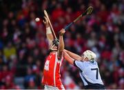 24 March 2018; Mark Schutte of Cuala in action against Kieran Kennedy of Na Piarsaigh during the AIB GAA Hurling All-Ireland Senior Club Championship Final replay match between Cuala and Na Piarsaigh at O'Moore Park in Portlaoise, Laois. Photo by Piaras Ó Mídheach/Sportsfile