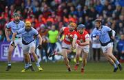 24 March 2018; Seán Treacy of Cuala, supported by team-mate Oisín Gough in action against Na Piarsaigh players, from left, Ronan Lynch, David Breen, and David Dempsey during the AIB GAA Hurling All-Ireland Senior Club Championship Final replay match between Cuala and Na Piarsaigh at O'Moore Park in Portlaoise, Laois. Photo by Piaras Ó Mídheach/Sportsfile