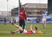24 March 2018; Paul Schutte of Cuala after picking up an injury during the AIB GAA Hurling All-Ireland Senior Club Championship Final replay match between Cuala and Na Piarsaigh at O'Moore Park in Portlaoise, Laois. Photo by Piaras Ó Mídheach/Sportsfile