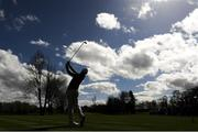 20 April 2018; Padraig Harrington of Ireland taking his tee shot on the 11th tee box during the JP McManus Pro-Am Launch at Adare Manor in Adare, Co. Limerick. Photo by Eóin Noonan/Sportsfile