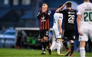 20 March 2018; Eoghan Stokes, centre, and Dylan Watts of Bohemians, react to a missed chance during the SSE Airtricity League Premier Division match between Bohemians and Cork City at Dalymount Park in Dublin. Photo by Sam Barnes/Sportsfile