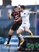 20 March 2018; Rob Cornwall of Bohemians in action against Gearóid Morrissey of Cork City during the SSE Airtricity League Premier Division match between Bohemians and Cork City at Dalymount Park in Dublin. Photo by Sam Barnes/Sportsfile